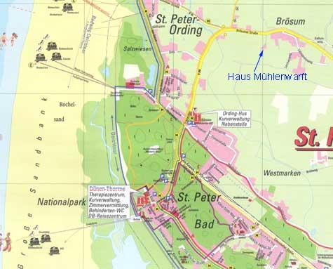Sankt Peter Ording Karte.Haus Muhlenwarft Nordsee